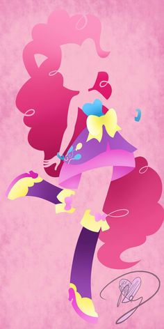 Equestria Girls Pinkie Pie abstract