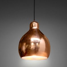 Godfrey copper pendant light by Lightly.  Shop: Collected by Leeann Yare