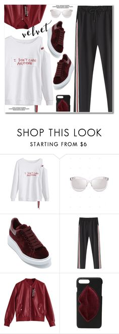 """""""Crushing on Velvet"""" by paculi ❤ liked on Polyvore featuring Alexander McQueen, Kendall + Kylie and velvet"""
