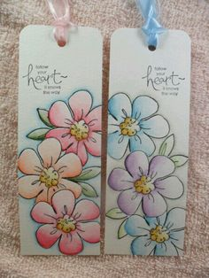 Creative Bookmarks, Diy Bookmarks, Watercolor Bookmarks, Watercolor Cards, Homemade Bookmarks, Paper Art, Paper Crafts, Book Markers, Flower Art