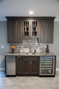 Pete Kitchen Gallery — Elements Design Co. Wet Bar Basement, Basement Kitchenette, Basement Bar Designs, Home Bar Designs, Basement Ideas, Small Basement Bars, Small Basement Kitchen, Wet Bar Designs, Basement Finishing