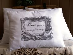 The Edgar Allan Poe-Raven Poem Quote-14X16 Lumbar Pillow. $18.00, via Etsy.