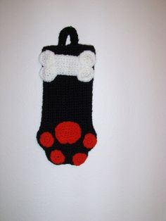 Adorable Black  Christmas Stocking or Dog by MissyOodlesCreations, $12.00
