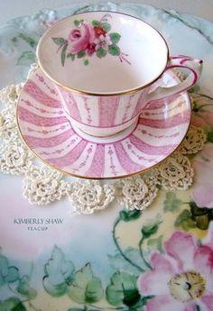 Pink rose teacup set...LOVE THIS