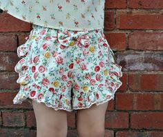 GIRLS SHORTS Shorts sewing pattern Ruffled Shorts pdf sewing