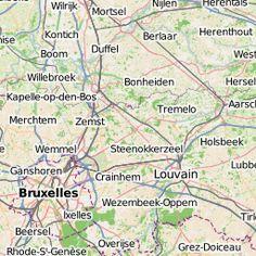 Structures et communautées du monde du Libre en Belgique - uMap