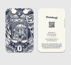 Promotional postcards for bandORG ||  tarjetas de presentacion 19 #postcards #printdesign