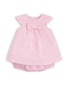 Absorba Infant Girls' Seersucker Dress & Bloomers Set - Sizes Months Sale: CAD Sale ends Little Girl Outfits, Kids Outfits, Designer Dresses For Kids, Baby Dress Patterns, Seersucker Dress, Baby Girl Dresses, Toddler Dress, Kids Fashion, Infant Girls