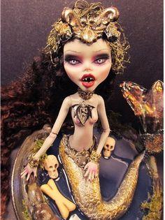 OOAK Monster High Vampire Mermaid Unique Custom by Fantasydolls, $139.00