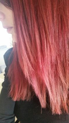 My hair at the moment - pinky red