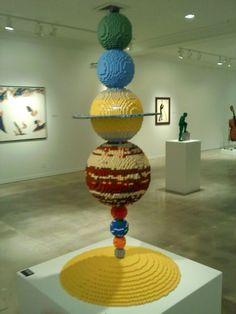 LEGO solar system. By Nathan Sawaya.