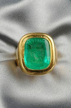 emerald intaglio