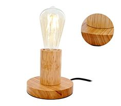 From 16.99 Mstar E27 Wooden Bedside Lamp Table Light For Living Room Bedroom With On/off Switch With Bs Plug
