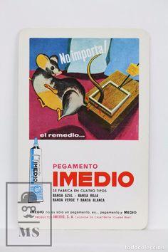 Calendario Publicitario de Bolsillo, H. Fournier - Pegamento Imedio - Año 1972