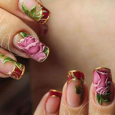 Crazy Nail Art, Cute Nail Art, Cute Pink Nails, Pretty Nails, Beautiful Nail Designs, Beautiful Nail Art, Nail Polish Designs, Nail Art Designs, Flower Nail Art