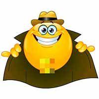 Emoticon design of a flasher stock illustration Smiley Symbols, Symbols Emoticons, Funny Emoticons, Emoji Symbols, Smileys, Emoji Names, Smiley Emoticon, Smiley Faces, All Emoji
