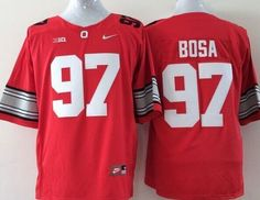 "$25.88 at ""MaryJersey"" (maryjerseyelway@gmail.com) Buckeyes 97 Joey Bosa Red Stitched Youth NCAA Jersey"