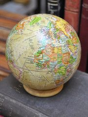 A studious and handsome find for sure, rest this globe on a shelf or bookcase for a cultured touch in any room. With great accuracy an...