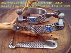 We make spurs and straps......THE WAY THAT YOU .want them...........www.rjewingranch.com Spurs Western, Cowboy Spurs, Cowboy Gear, Cowboy And Cowgirl, Cowboy Boots, Horse Bits, Horse Tack, Cowboys And Indians, Real Cowboys