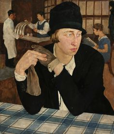 Lotte Laserstein, Im Gasthaus (In the Restaurant)