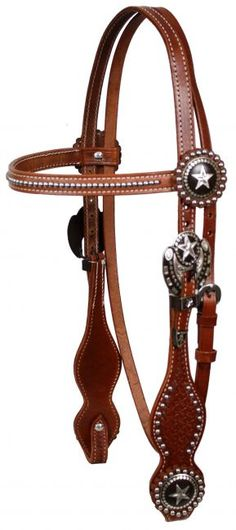 Western Bridle Fancy Star Conchos & Silver Spots This matches my saddle! Horse Bridle, Horse Halters, Horse Gear, Horse Saddles, My Horse, Horse Riding, Horses, Western Bridles, Western Horse Tack