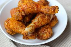Kfc kip uit de airfryer - Powered by Thai Chicken Curry, Bbq Chicken, Tandoori Chicken, Chicken Wings, Chicken Recipes, A Food, Good Food, Food And Drink, Gourmet Recipes