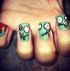 25 Simple Easy Scary Halloween Nail Art Designs Ideas Pictures 2012 20 25