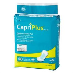 Capri Plus Bladder Control Pad Incontinent Liners Ultra Plus 8 x 17 White Case Of 28 Capri, Control, T Bag, Urinary Incontinence, Diaper Sizes, Natural Rubber Latex, Plus 8, Pelvic Floor, Smoothie Drinks