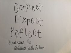 Connect. Expect. Reflect. Strategies for Students With Autism