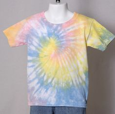 Toddler pastel multi colored tie dye t-shirt T2 #Gildan #Everyday