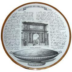 A Complete Set of Twelve Piero Fornasetti Recipe Plates (BB) Risotto Milanese, Tea Illustration, Piero Fornasetti, Gio Ponti, Food Plating, Historical Sites, Rome, Art Decor, Bb