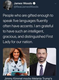 """This fucktard meaning Jimmy Kimmel, instead of just being funny on his own has just spent 5 minutes in the opening of his show, blasting POTUS. I say we blast him and make him known for the hypocritical PoS he is. Remember the """"man show""""? Political Quotes, Political Views, Trump Is My President, First Lady Melania Trump, Conservative Politics, Funny, Presidents, Memes, Humor"""