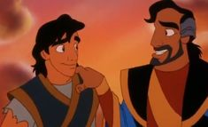 Aladdin and his father, Cassim.