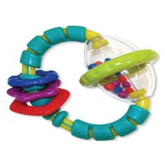 Bright Starts Grab & Spin Aqua/multi - Baby can explore and develop fine motor skills while playing with this colorful rattle toy. Teething relief and rattling fun make this one of baby's favorites. Toddler Toys, Baby Toys, Baby Baby, Teething Relief, Baby Teethers, Baby Rattle, Baby Games, Fine Motor Skills, Spinning