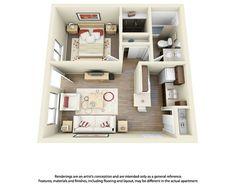 Studio Apartment Floor Plan At Shri Radha Valley  Studio Alluring One Bedroom Apartment Designs Example Design Decoration