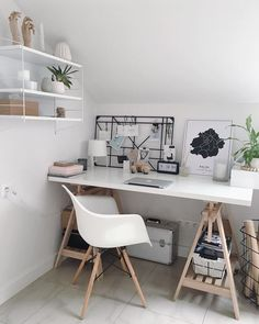 - 47 Inspiring Home Office Organization Ideas computer desk, home office ideas, home work space, home office decorations Home Office Organization, Home Office Desks, Organization Ideas, Cozy Home Office, My New Room, My Room, Aesthetic Rooms, Bedroom Decor, Study Room Decor