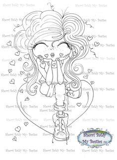 INSTANT DOWNLOAD digitale Digi Stamps Big Eye Big Head-Dolls Bestie img487 My Friends von Sherri Baldy