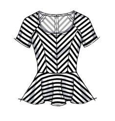M6754 Tops & Dresses | Easy - Peplum top | Sew your own wardrobe