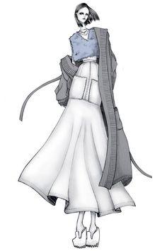 Fashion illustration - fashion design sketch // #drawfashion