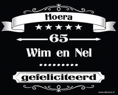 Sticker 65 jaar