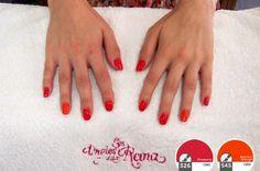 Nail Art #6 ~ ¿Combinar el rojo y el naranja? <br />Se puede