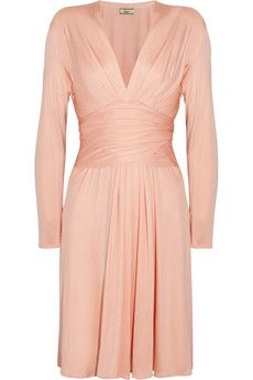 Kate Middleton's Issa dress, in a peachy pink: Issa Wrap-effect silk-jersey dress