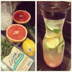 detox water - lemon, grapefruit, mint, cucumber