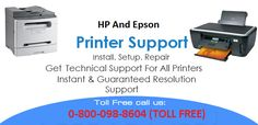 If you are using hp or Epson printer in UK and getting some problems then you can contact Epson And HP printer Support Team on Toll Free Number 0-800-098-8604.
