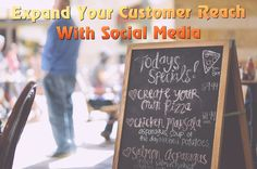 Expand Your Customer Reach With SocialMedia! Business News, Chalkboard Quotes, Social Media Marketing, Art Quotes, Create Yourself