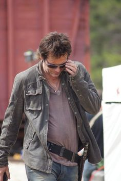 """Revolution, Season 2, Episode 221, """"Memorial Day"""". Billy Burke on the set. Photo by Texas State Railroad, posted on their Facebook page. Billy Burke Actor, Revolution Tv, David Lyons, Stephen Collins, Tracy Spiridakos, Elizabeth Mitchell, Alters, Season 2, Youtubers"""