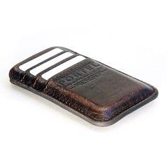 iPhone 5 - - RETROMODERN aged leather pocket - - DARK BROWN. via Etsy.