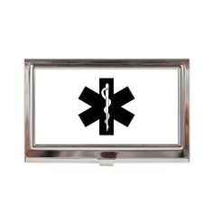 Paramedic sol blue business card case rescuetees cool ems stuff ems star of life business card case ems star of life bonfire designs colourmoves Image collections