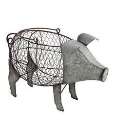 Love this Metal Pig Décor on #zulily! #zulilyfinds