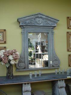 Belgian Sideboard & Zinc Mirror (4)